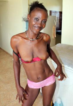 Athletic bodied black mature in pretty..