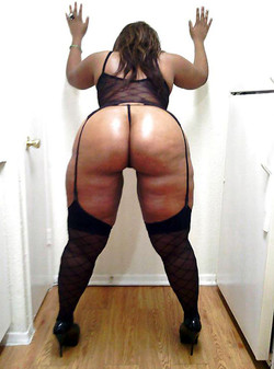 Hot black housewife shows her big..