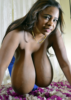 King-size black boobs. Supper star milf