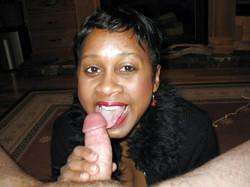 Ugly mature girlfriend doing blowjob..