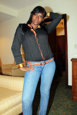 Long-legged black girlfriend with nice..